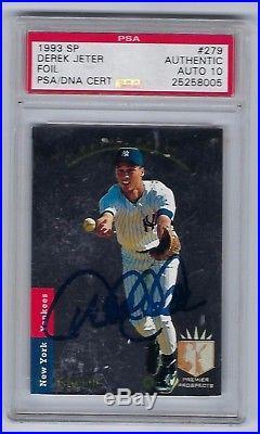 1993 SP Foil #279 Derek Jeter Yankees RC Rookie Signed AUTO PSA/DNA PSA10
