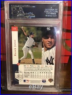 1993 SP Foil #279 Derek Jeter Yankees RC Rookie Signed AUTO PSA/DNA PSA 9