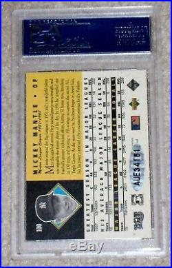 1994 UD All Time Heroes MICKEY MANTLE #100 Yankees UDA Signed Autograph PSA/DNA