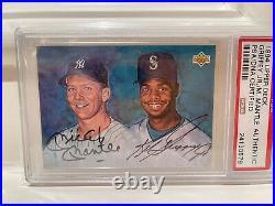 1994 Upper Deck MICKEY MANTLE KEN GRIFFEY JR PSA/DNA Dual Autograph