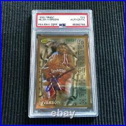 1996/97 Topps Finest #69 Allen Iverson Rookie Psa/dna Auto/autograph 76ers