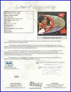 1997 SPx MICHAEL JORDAN UPPER DECK CARD 5 PSA DNA SIGNED AUTOGRAPHED DIE CUT UDA