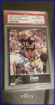 1997 upper deck legends BART STARR autograph PSA /DNA CERTIFIED AUTHENTIC