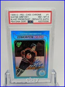 1998 Opc Hockey Wayne Gretzky Rc Refractor Blast Past 1979 Psa/dna Auto Signed