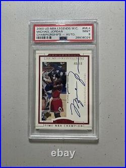 1999 Upper Deck NBA Legends Master Collection Michael Jordan On-card auto PSA 9