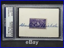 1/1 Charles Kid Nichols Signed 1939 Baseball Stamp PSA/DNA AUTH Autograph HOF
