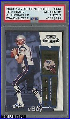 2000 Contenders Rookie Ticket #144 Tom Brady Patriots RC AUTO PSA/DNA 9 HOT CARD