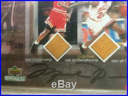 2000 Michael Jordan Autograph UDA Championship Floors Auto PSA/DNA 10