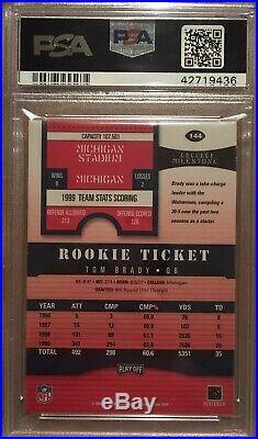2000 Playoff Contenders Rookie Ticket #144 Tom Brady RC PSA/DNA 10 AUTO