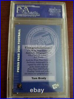 2000 Press Pass Certified Tom Brady ROOKIE RC AUTO PSA/DNA 10 PSA Auth
