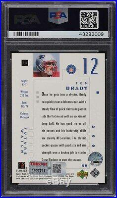 2000 SP Authentic Tom Brady ROOKIE RC PSA/DNA AUTO 10 /1250 PSA 10 GEM MINT
