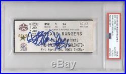 2001 ICHIRO SUZUKI Rookie First Home Run Ticket Autograph PSA/DNA Auto Signed RC