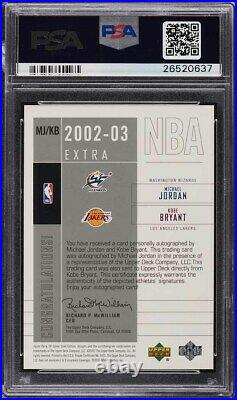 2002 SP Game Used Extra Significance Kobe Bryant Michael Jordan AUTO /25 PSA 10