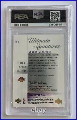 2003 Ultimate Collection Signatures Kobe Bryant #KB-A PSA 8 Auto 10