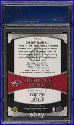 2005 SP Signature Authentic LeBron James AUTO #AS-LJ PSA 9 MINT