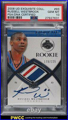 2008 Exquisite Collection Russell Westbrook RC PATCH PSA/DNA AUTO /225 PSA 10