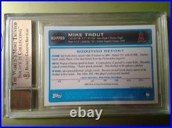2009 Bowman Chrome Draft #89 Mike Trout Auto RC 9.5/10=PSA 10