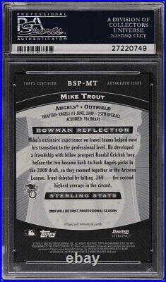 2009 Bowman Sterling Prospects Mike Trout ROOKIE RC AUTO #BSPMT PSA 10 GEM MINT