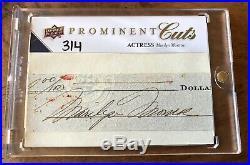 2009 Upper Deck Prominent Cuts Marilyn Monroe Cut Auto Autograph 3/4 PSA/DNA