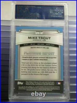2010 Bowman Platinum Mike Trout Prospect Refractor RC Rookie Auto PSA 9 Mint HOT