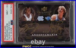 2011 Exquisite Collection Michael Jordan Larry Bird PSA/DNA 9.5 AUTO PSA Auth