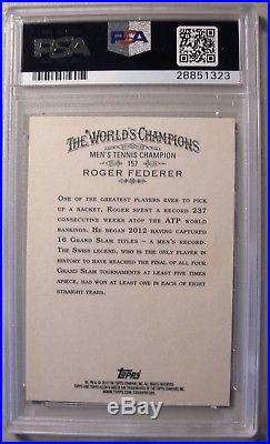 2012 Topps Allen & Ginter #157 ROGER FEDERER Signed PSA/DNA Autograph