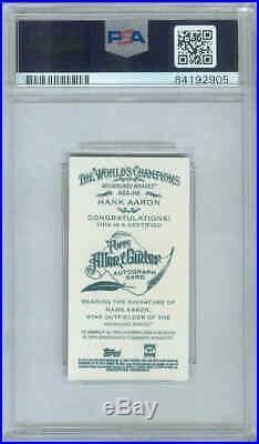 2013 Topps Allen & Ginter HANK AARON Topps Certified Autograph AUTO PSA DNA