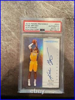 2014 Panini Preferred Kobe Bryant /50 PSA/DNA 10 AUTO PSA Auth