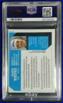 2015 SI For Kids Brooks Koepka Signed Rookie Card Autograph RC PSA/DNA 10 Auto