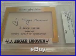 2016 Leaf Executive J. EDGAR HOOVER CUT AUTO 1 OF 1 SIGNED AUTOGRAPH PSA DNA JSA