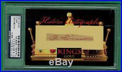 2017 Historic Autographs Kings Al Simmons Gold Auto Psa/dna 2/3