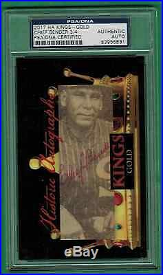 2017 Historic Autographs Kings Chief Bender Gold Auto Psa/dna 3/4