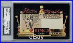 2017 Historic Autographs Kings Gold Ty Cobb #1/1 Psa/dna Certified Au