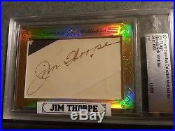 2017 Leaf Executive JIM THORPE CUT AUTO 1 OF 1 1/1 PSA DNA JSA Autograph