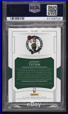 2017 National Treasures Jayson Tatum RC PSA/DNA 10 AUTO PATCH /99 PSA 10