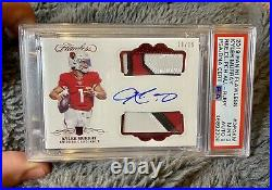 2019 Flawless KYLER MURRAY RC Rookie Patch Auto Ruby RPA /15 Cardinals BGS PSA 9