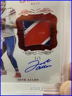 2019 Flawless Signature Gloves Josh Allen Auto 5/5! Ebay 1/1! PSA 9 Pop 1