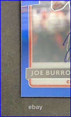 2020 Donruss Optic Joe Burrow Rated Rookie Auto Blue on Blue /75. PSA10