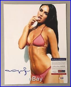 20354 Megan Fox Signed 11x14 Photo Autograph AUTO PSA/DNA ITP COA