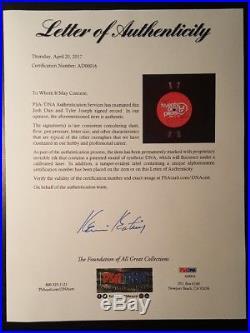 21 Twenty One Pilots Josh Tyler Joseph Signed Autographed LC LP PSA/DNA