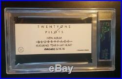 21 Twenty One Pilots Tyler Joseph Signed Autographed Sticker PSA/DNA AUTHENTIC
