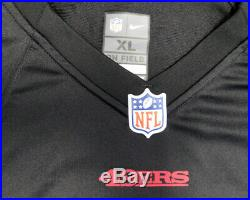 49ers Joe Montana Autographed Signed Black Nike Jersey Size XL Psa/dna 113642
