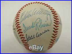 500 Home Run Club Baseball Signed By 10 Psa/dna Mantle Williams Mays Autographed