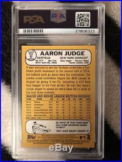 AARON JUDGE 2017 Topps Heritage Real Ones Rookie Card RC PSA DNA 10 & PSA 10