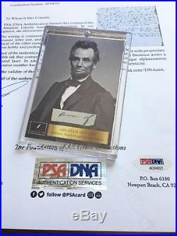 ABRAHAM LINCOLN PSA/DNA 2 Handwritten Cut Words not Autograph or Signed