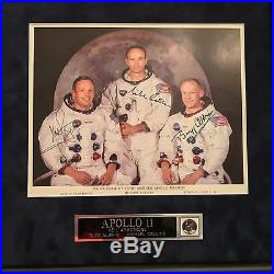 APOLLO 11 CREW SIGNED PSA/DNA GEM 10/10 UNINSCRIBED autograph NASA LITHOGRAPH