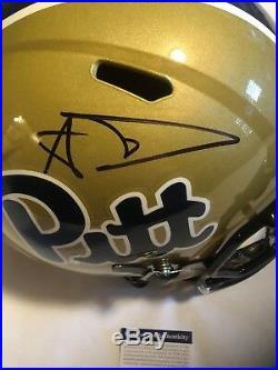 Aaron Donald Autographed Full Size Pitt Panthers Speed Helmet PSA/DNA COA