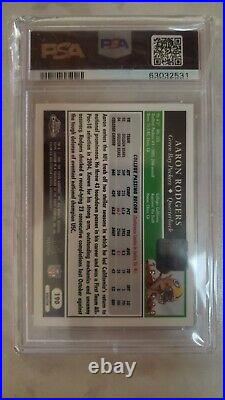Aaron Rodgers 2005 Topps Chrome Gold Xfractor Autograph Rc Auto #/399 Psa 8 Rare