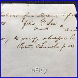 Abraham Lincoln Autograph Letter Signed as US Congressman 1847 PSA/DNA LOA