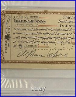 Al Capone Double Signed Autograph Check Document Mafia Gangster Scarface PSA/DNA
